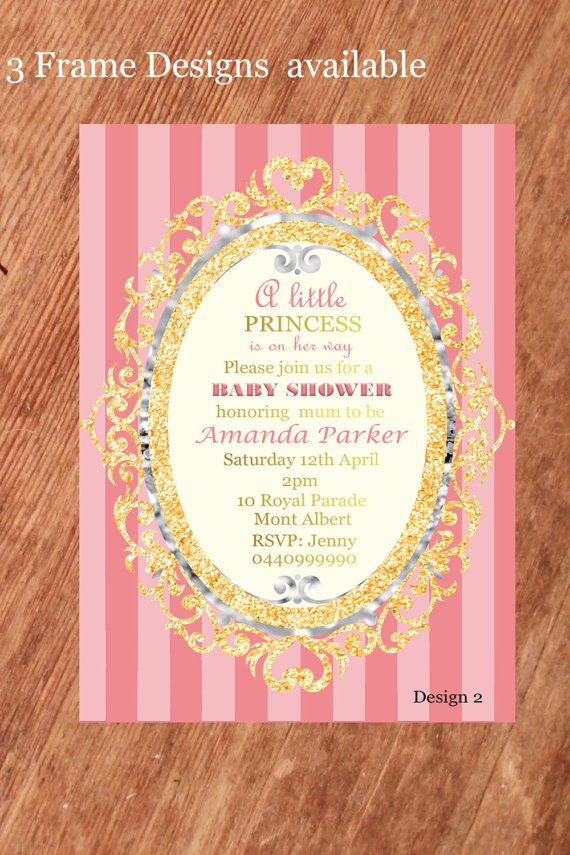Baby Shower Invitation Personalized,Baby Shower Pink and Gold, Baby ...