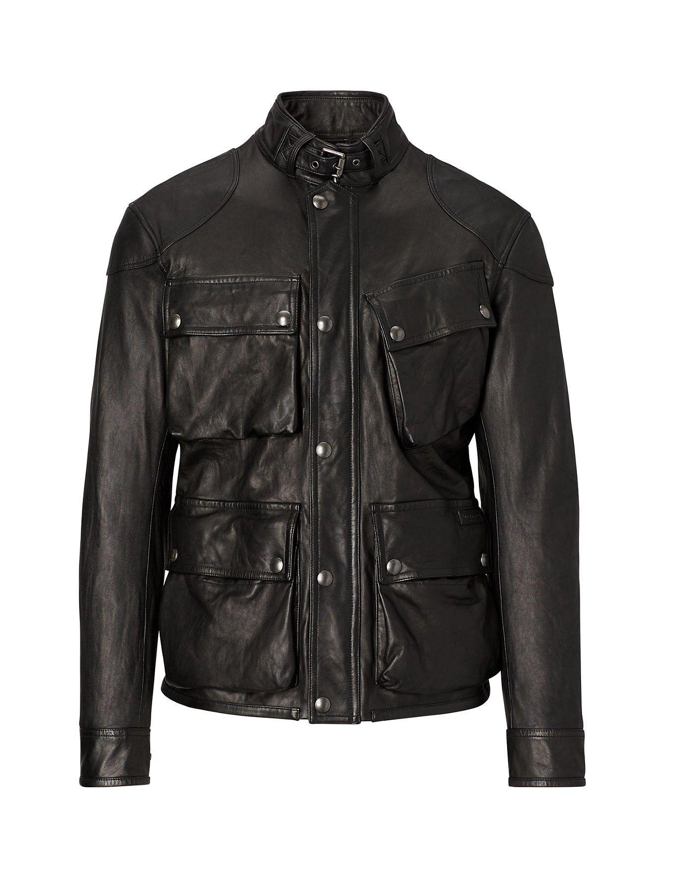 Polo lambskin leather jacket