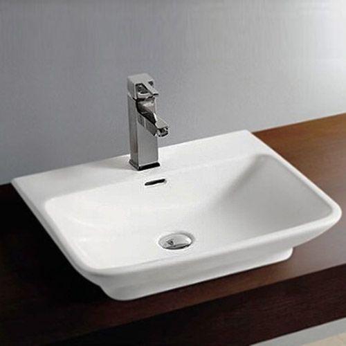 Bathroom Drain Plumbing Minimalist moda wall hung basin 1th - 560 x 465mm   basin, moda and