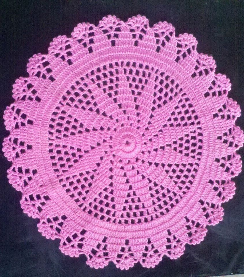 como hacer un tapete o carpeta a crochet en espa ol 2