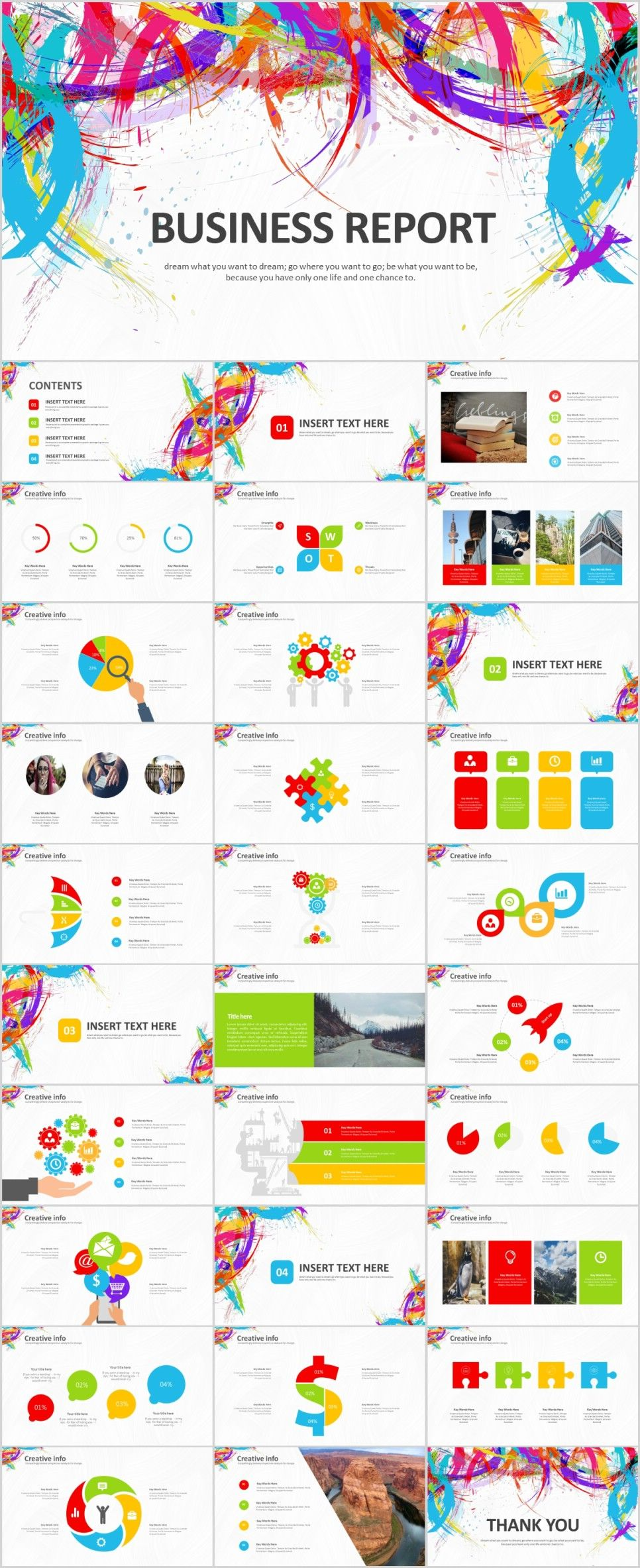 31 Creative business Report PowerPoint templateThe highest quality PowerPoint Templates and Keynote Templates download