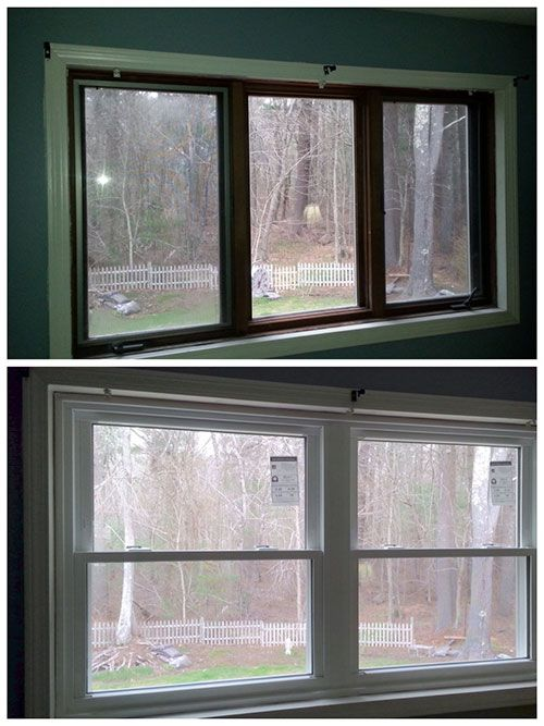 Old Casement Windows Replaced By Energy Efficient Double Hung