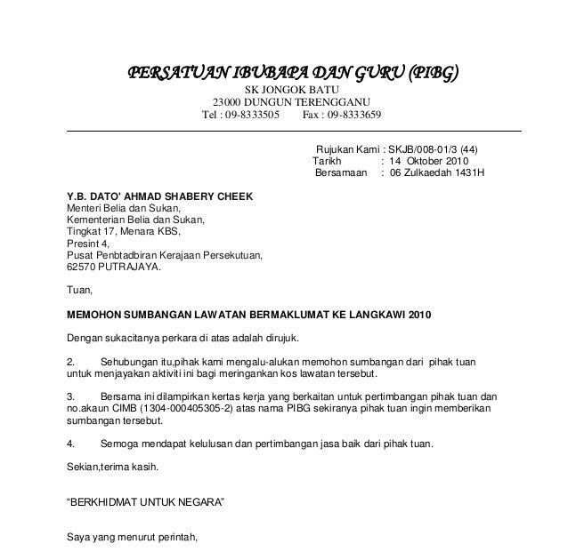 Contoh surat rasmi mohon kerja guru kosong format surat