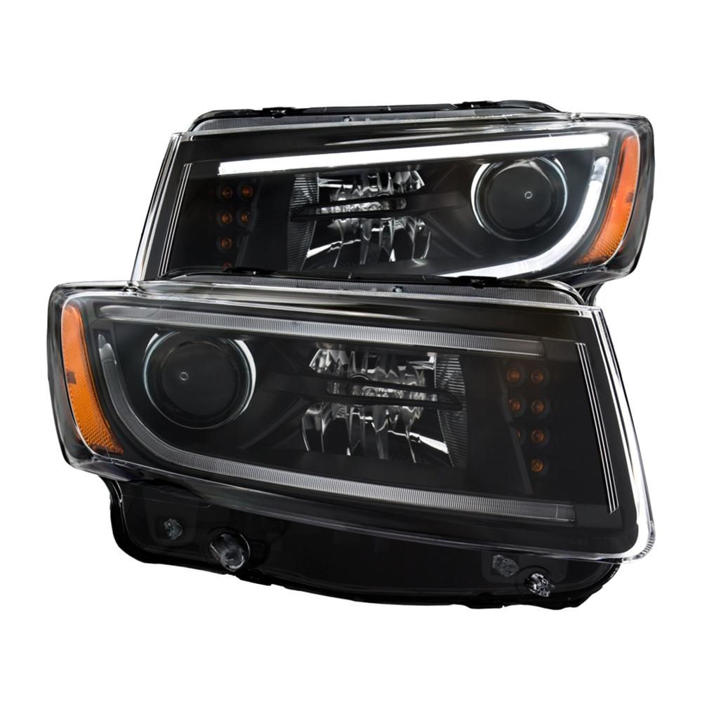 Anzo 2014 2015 Jeep Grand Cherokee Projector Headlights W Plank Style Design Black 111329 Jeep Grand Cherokee Jeep Grand Cherokee Accessories Jeep
