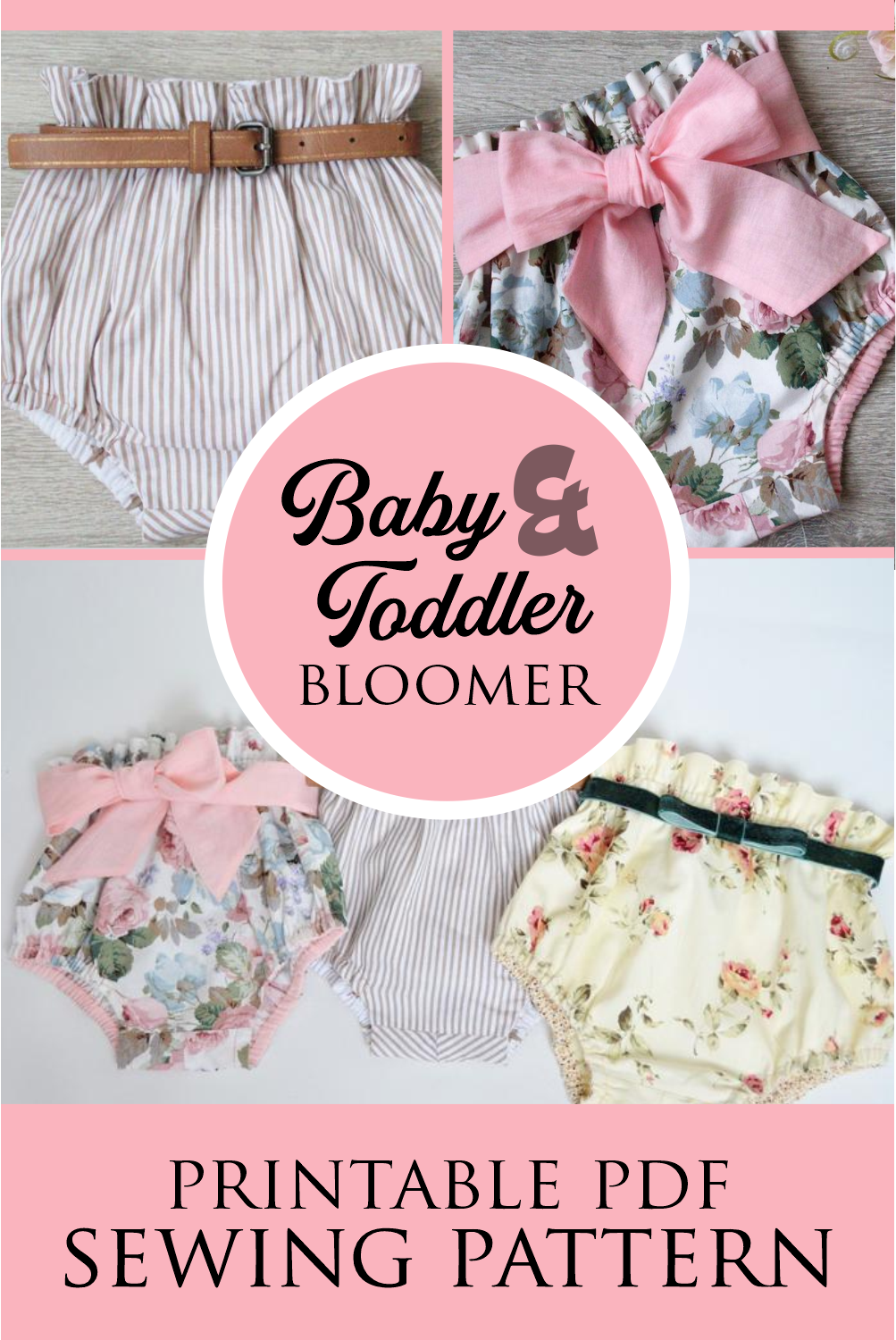 Photo of Baby Bloomers Sewing Pattern | DIY Diaper Cover Tutorial