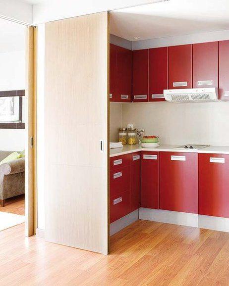 Seis puertas correderas para cocinas y baños Correderas, Puertas