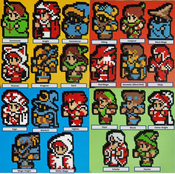 8-bit Final Fantasy 3 Character Sprite Magnet by