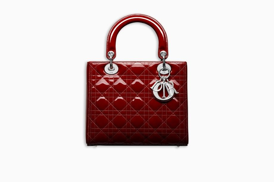 LADY DIOR BAG IN CHERRY RED PATENT CANNAGE CALFSKIN - Lady Dior Dior ... 03fdf466fc