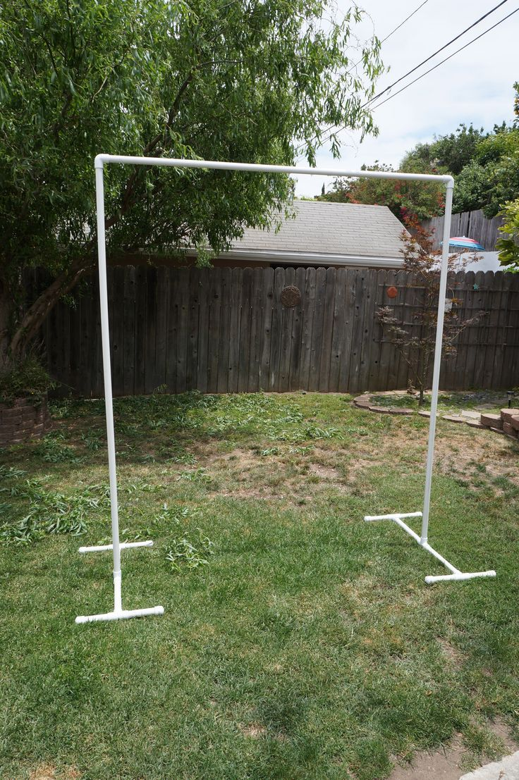 Build Your Own PVC Backdrop For The Ceremony Way Better Than Renting One Of Those Tacky Arches