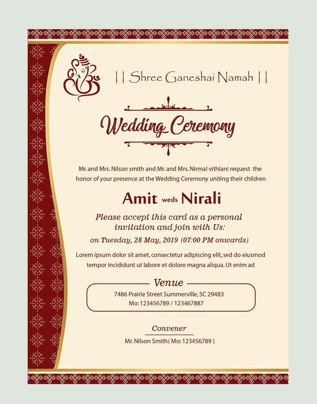 Microsoft Publisher Wedding Invitation Template Elegant Free Kankotri Card Templat In 2020 Fun Wedding Invitations Wedding Invitation Card Template Wedding Invitations
