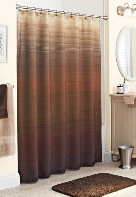 October 2018 Resources Ombre Shower Curtain Brown Shower