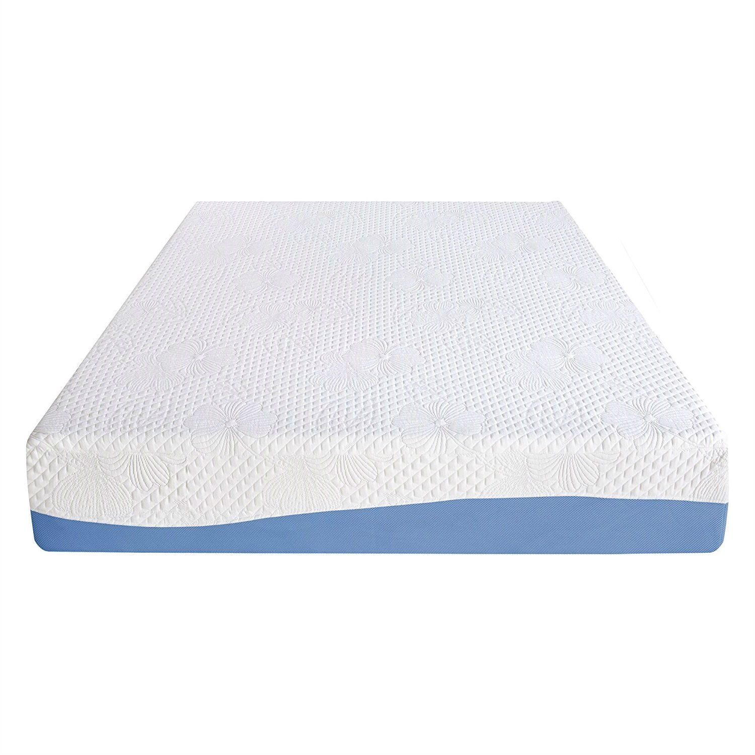 king size 10 inch memory foam mattress with gel infused comforter