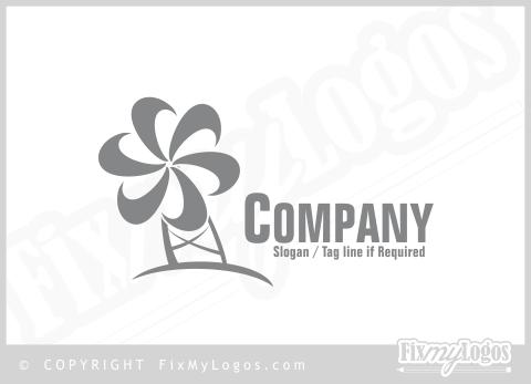Grey Windmill Logo