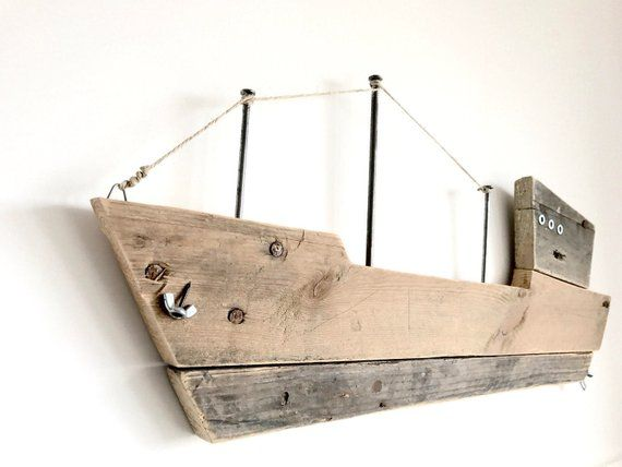 Photo of Wooden Ship Art Wooden ocean boat Wall art Home decor Hone and living Nautical decor Moby Dick Wood boat Room decor Pallet design