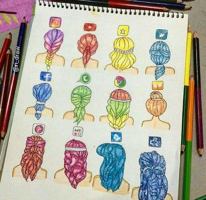 Scribble Drawing Instagram : Aplikace jako účesy pinterest drawings