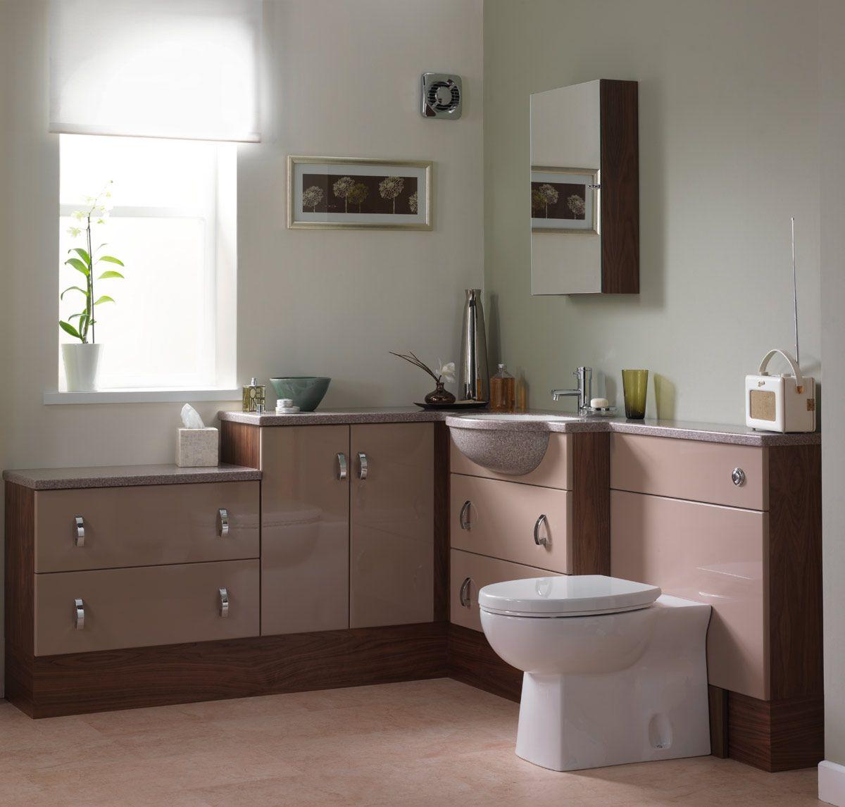 Vanity Hall Bathroom Units vanity hall ultra cappuccino gloss furniture | vanity hall