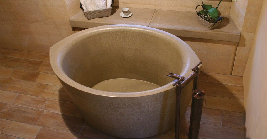 Concrete Bath Tubs | Ofuro Soaking Tub from Sonoma Cast Stone | Bath ...