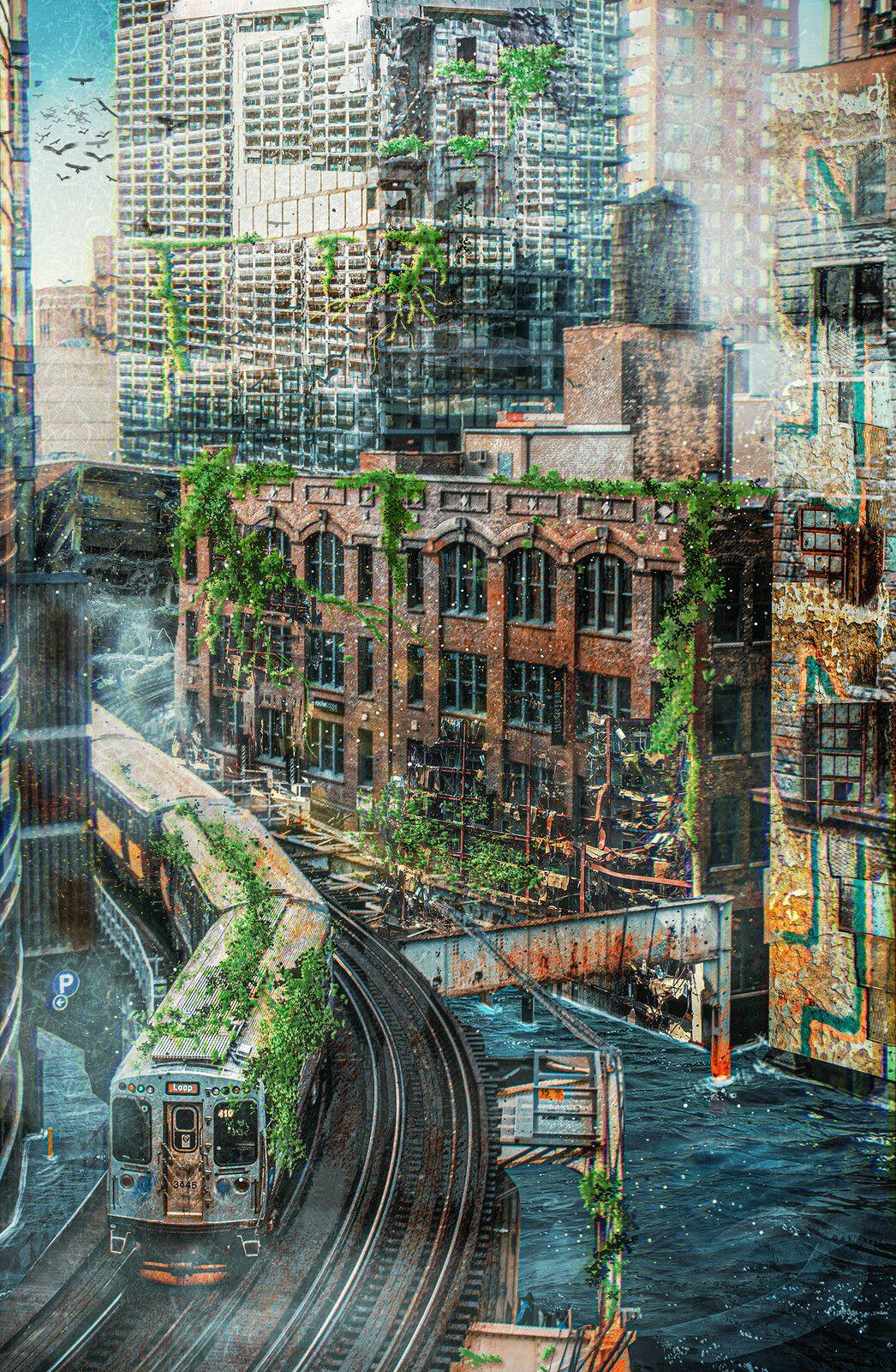 Post-Apocalyptic New York City Concept Environment Art, Emmanuel Nguyen
