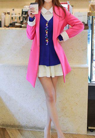 High-quality Fashion All-matching Elegant Slim Mixed Colors Blazer Overcoat