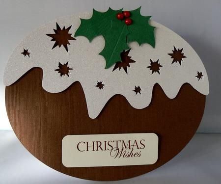 Card Gallery - Christmas Pudding Thank You Card - silhouette