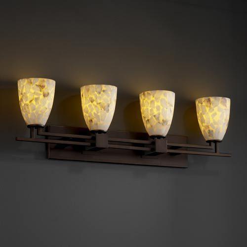 Photo of Justice Design Group Alabster Rocks! Aero Four Light Bath Fixture Alr 8704 18 Dbrz | Bellacor