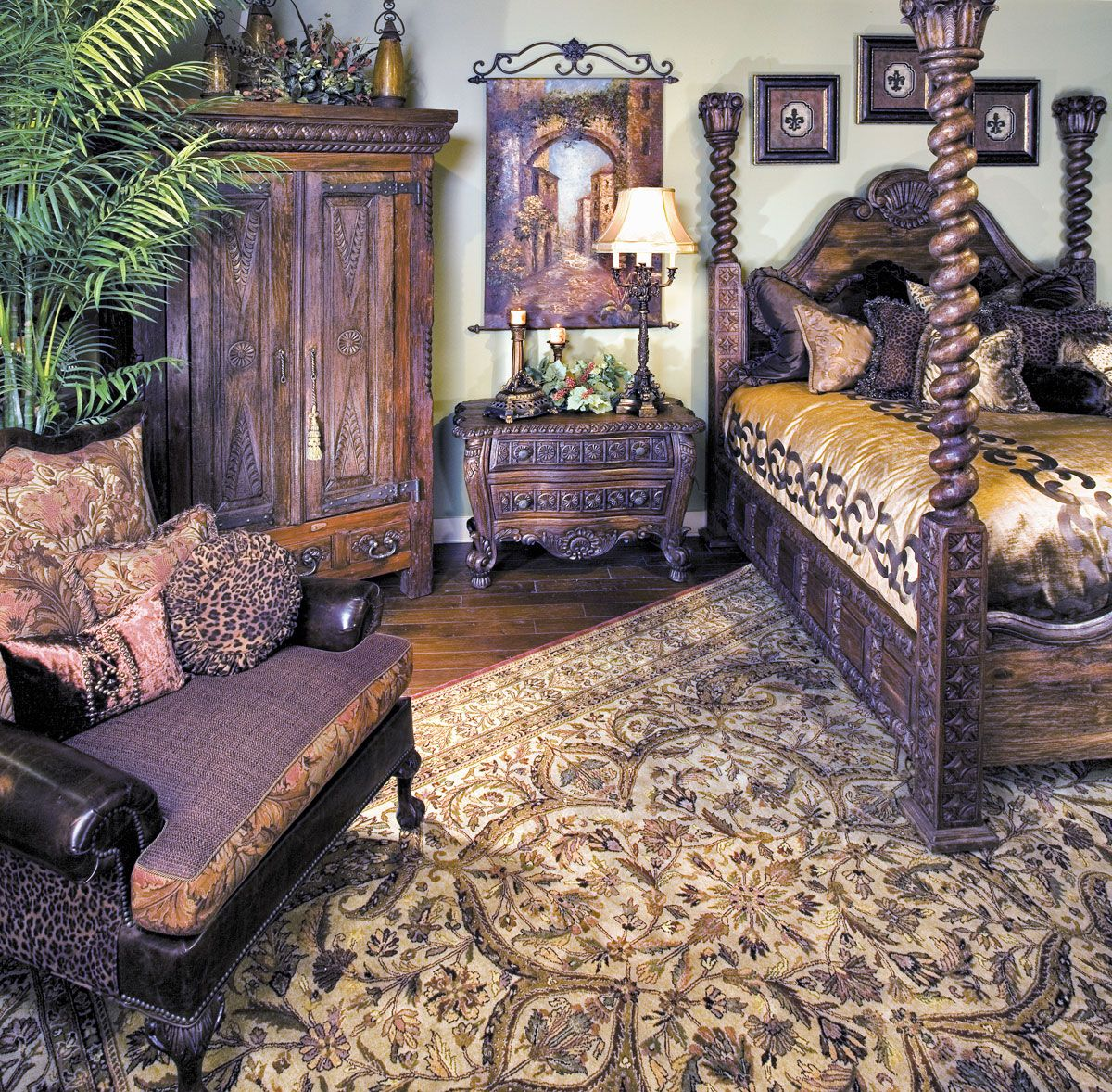 Old World Bedroom Decor Teenage Bedroom Furniture Nz Kids Bedroom Colour Ideas Bedroom Furniture And Decor: Nice Arrangement Pattern Of Rug And Furniture.