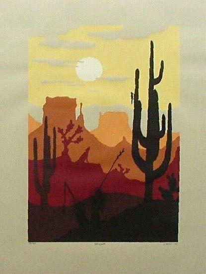 20x26 Arizona Landscape Silkscreen Prints Serigraphy Fine Art Silk Screen Printing Wall Art Wall Graphics Silk Screen Art Screen Printing Art