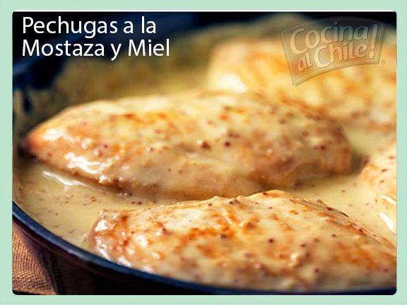 Pechugas De Pollo Con Deliciosa Salsa De Mostaza Y Miel Recetas De Comida Recetas De Cocina Comida