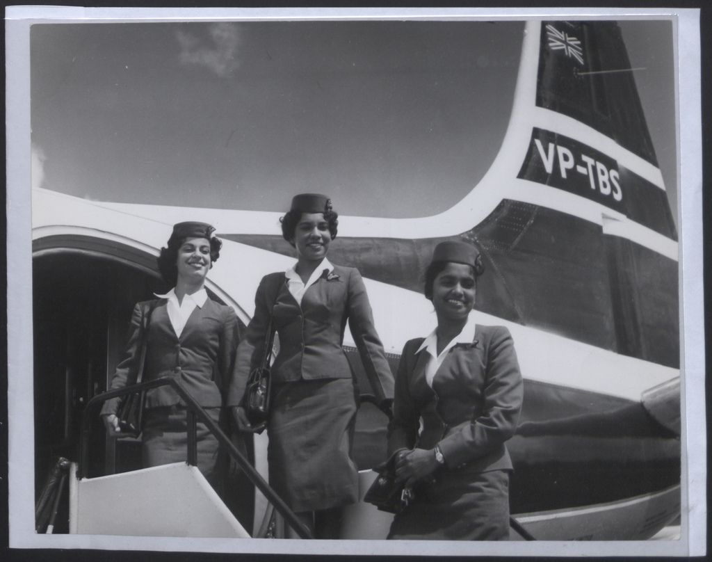 1955: 'Air hostesses on British West Indian Airways, the principle airline in the area, which is owned by the government of Trinidad and Tobago'