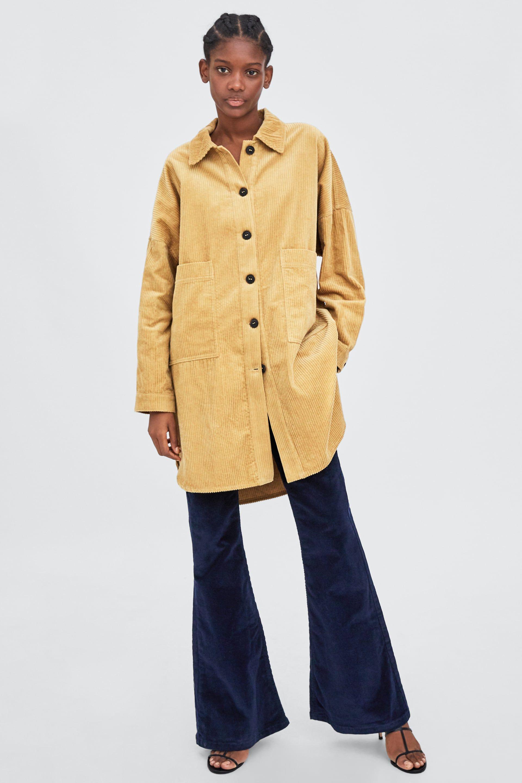63260cbf Image 1 of CORDUROY OVERSHIRT from Zara | fw18 | Corduroy, Shirts, Zara