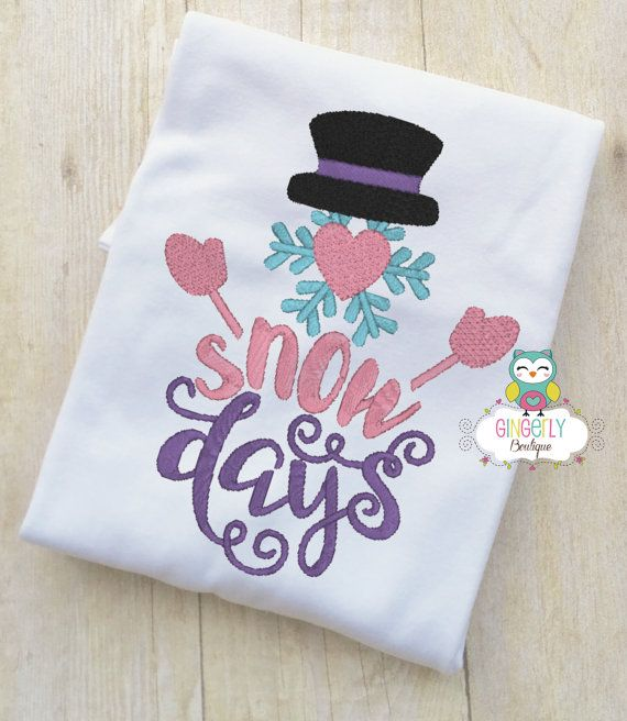 Snow Days Snowman Shirt or Bodysuit Christmas by GingerLyBoutique
