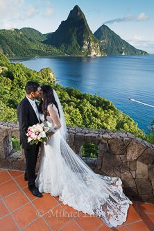 Wedding With The Pitons In Saint Lucia Destination Planner Inspiration