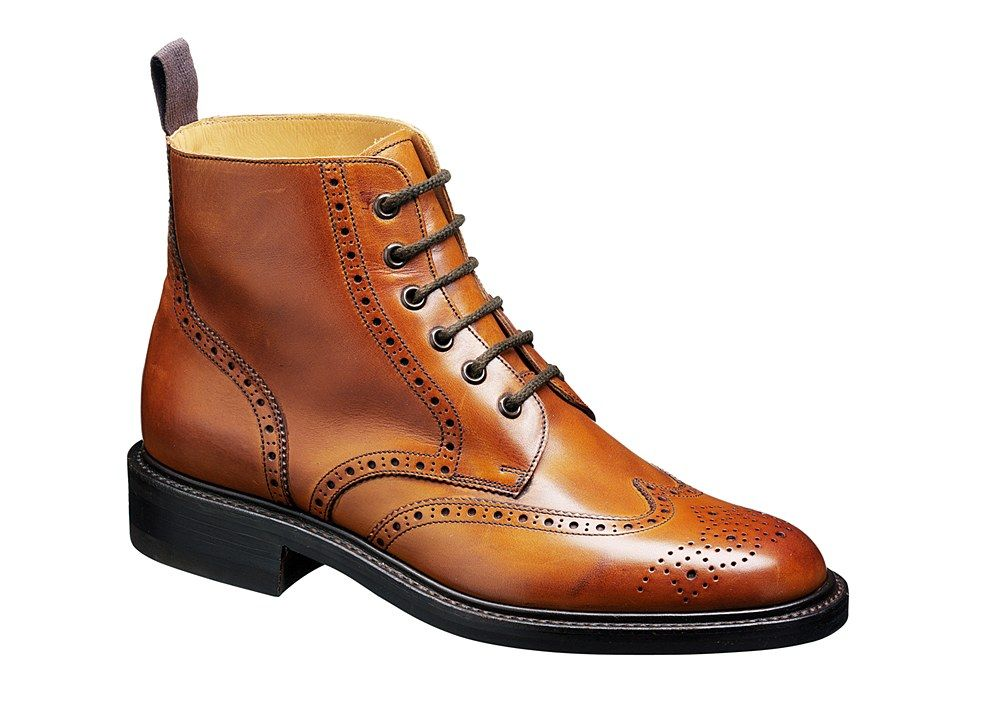 Barker Harrison 1611 Mens Brogue Lace Up Country Boot - Cedar 36 F ...