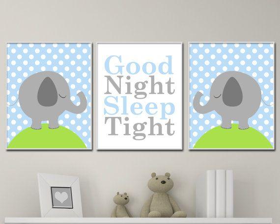 Baby Nursery Art Prints. Elephant Nursery Art. Suits by HopAndPop