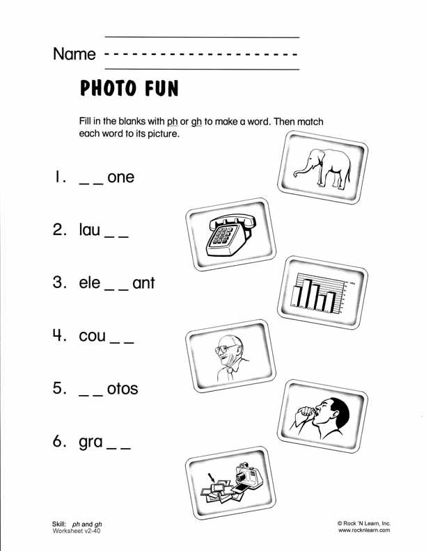 ph and gh - Free Phonics Worksheet | Language | Pinterest ...