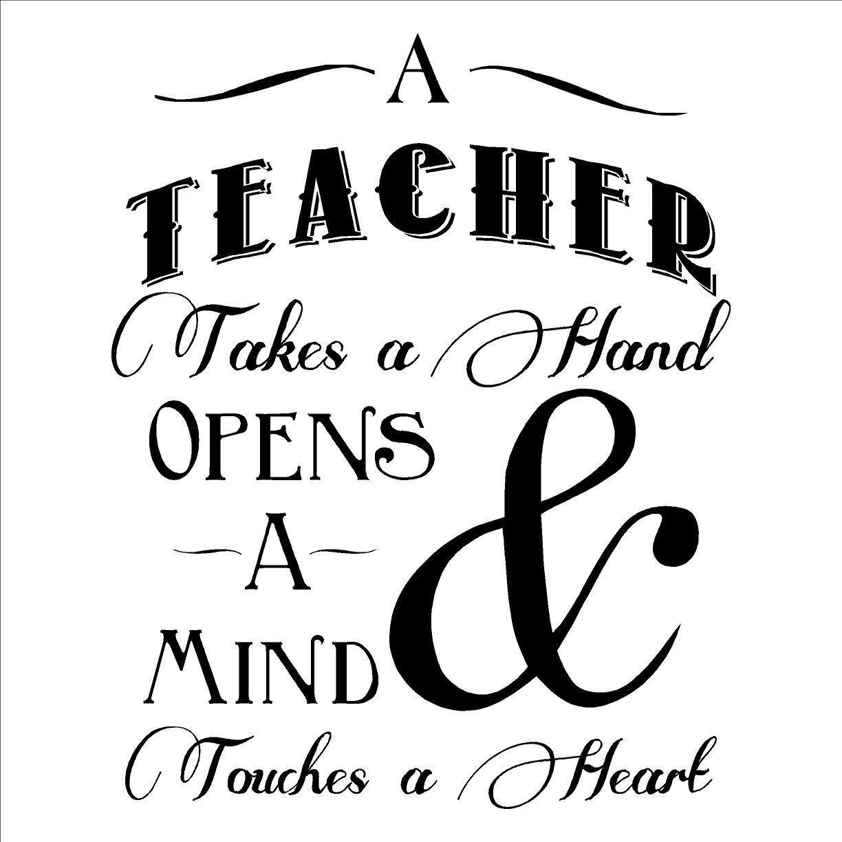 A Teacher Takes a Hand Opens a Mind and