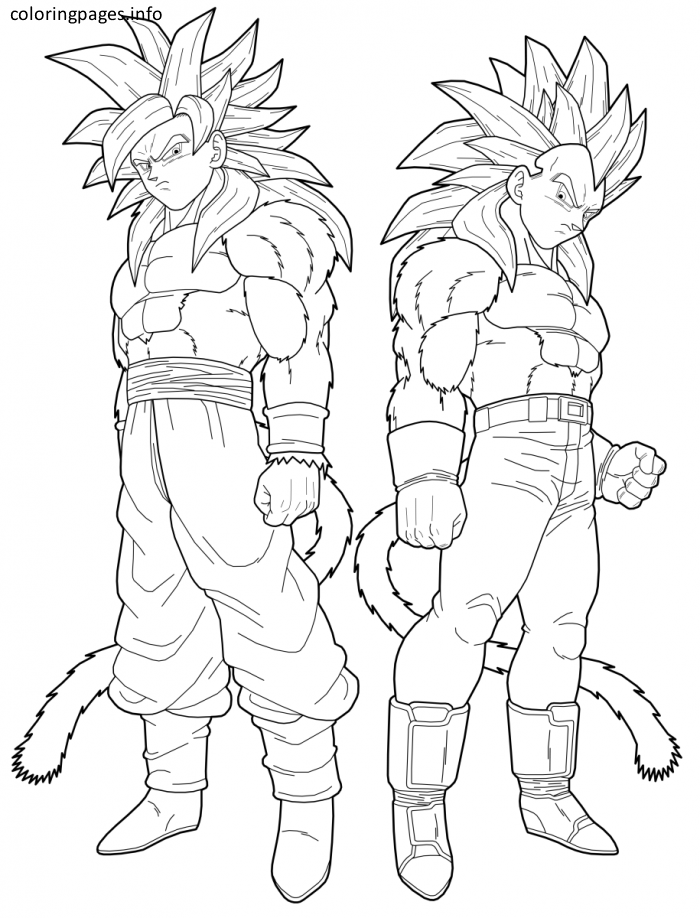 Ssj4 Goku Coloring Pages Super Coloring Pages Dragon Ball Art Dragon Ball Artwork