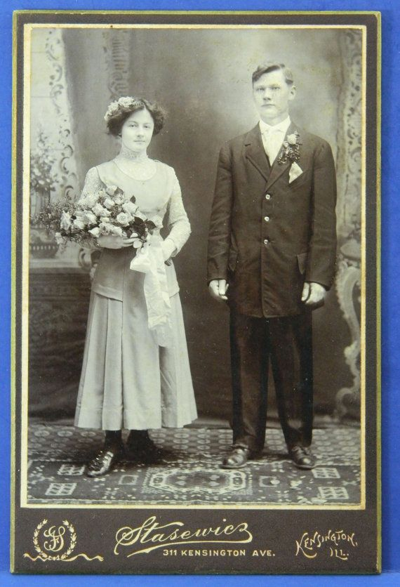 Wedding Photo Early 1900s Cabinet Card by QueeniesCollectibles, $7.99