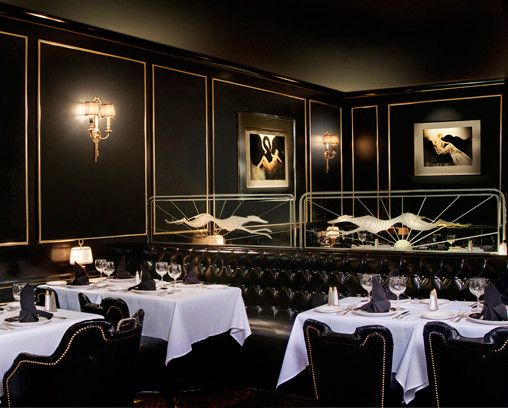 Elegant Black Walls And Black Ceiling Soft Indirect