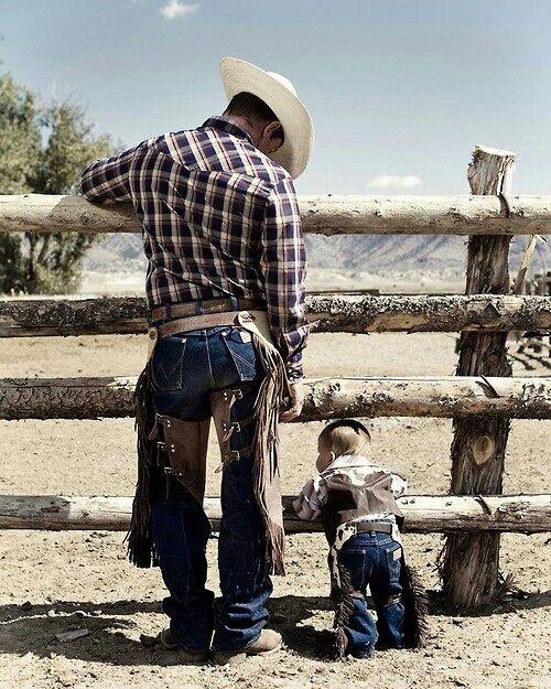 f81bf67e45017e Tal pai tal filho! | Bruto, Rústico e Sistemático. | Bebê cowboy ...