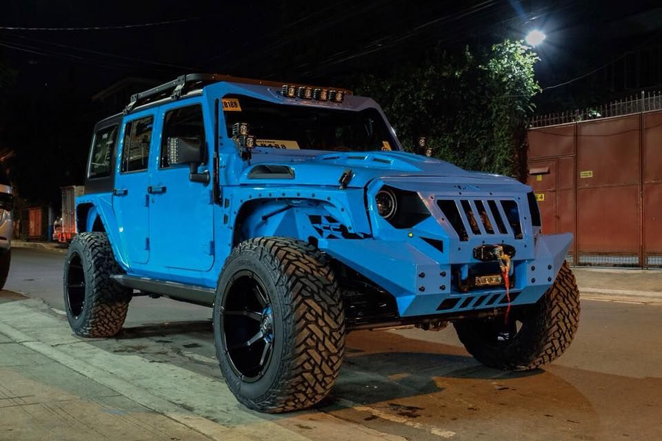 Blue Monster Widebody Jeep Wrangler By Autobot Custom Jeep