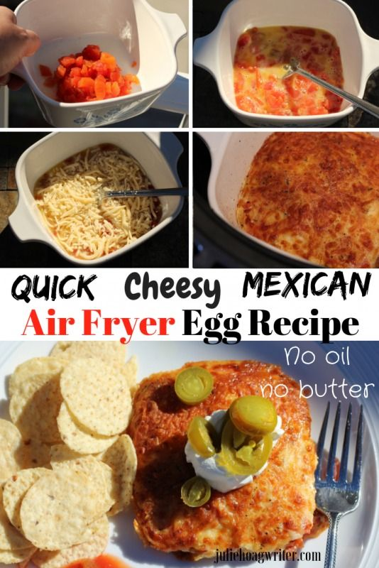 Quick Cheesy Mexican Air Fryer Egg