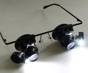 Hands Free Magnifier Glasses With Led Light For Repair Work Light Watch Eyeglass Camera Led Lights