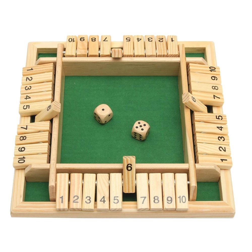 Wooden Traditional Four Sided 10 Number Pub Bar Board Dice Party Funny Game Toys Learning Education From Toys Hobbies And Robot On Banggood Com In 2020 Wooden Board Games Board Games