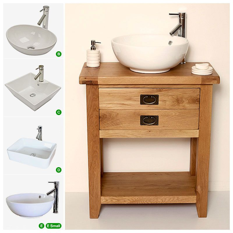 Traditional Oak Vanity Unit | Bathroom | Valencia