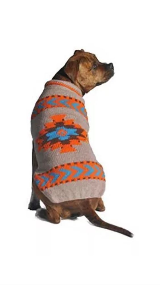 Chilly Dog Aztec Dog Sweater L Large Ebay Dog Sweaters Chilly