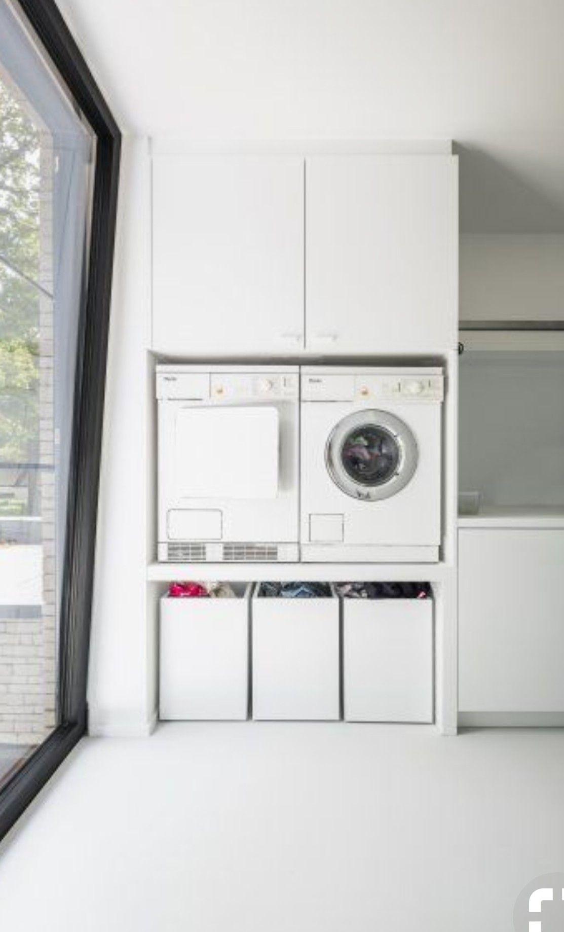 Waschmaschinenunterbringung.... #designbuanderie