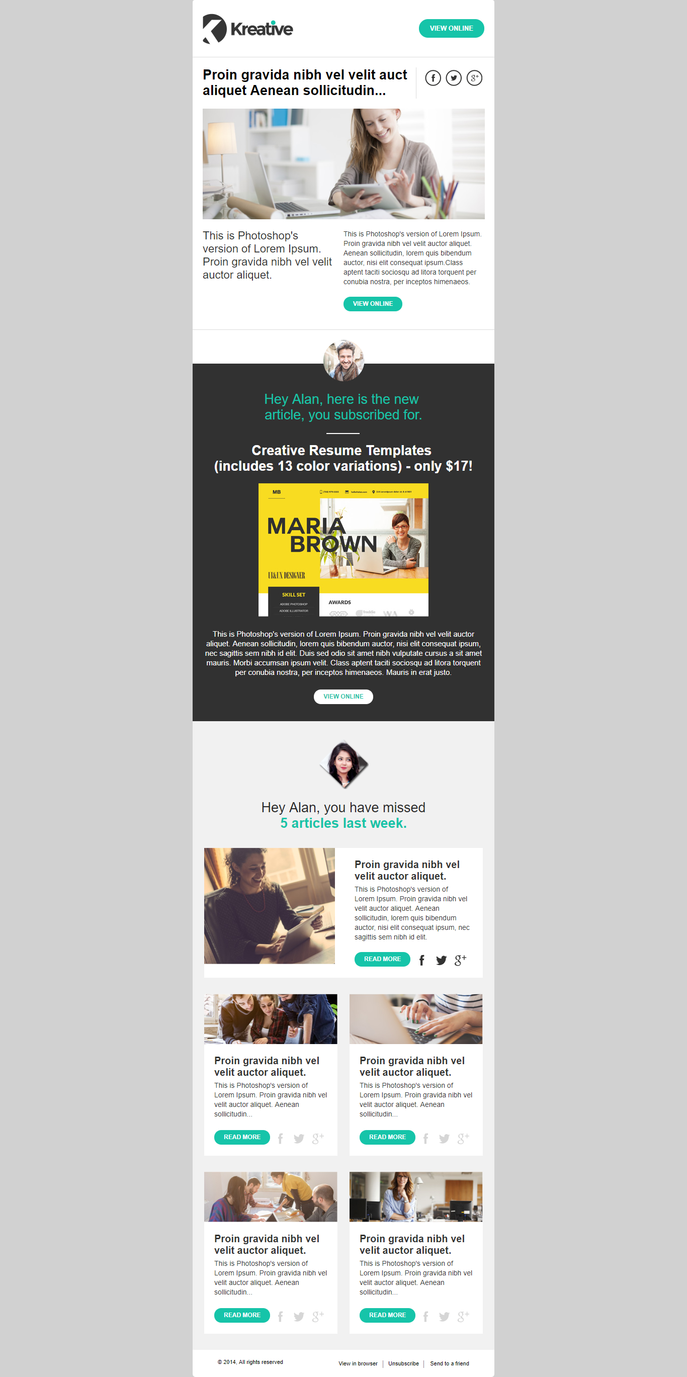 create responsive and creative HTML email template | Fiverr gigs ...