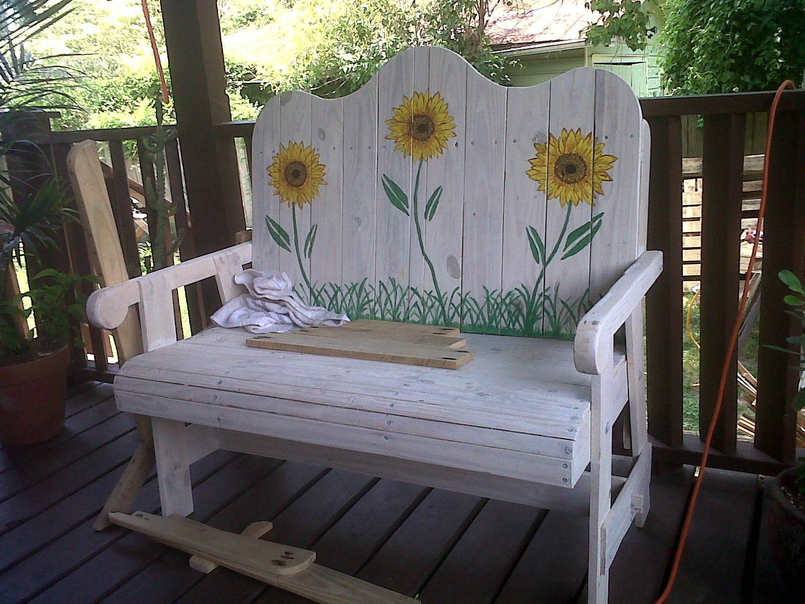 This Lovely Garden Bench Is Created From White Oak From