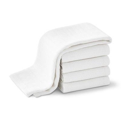 Williams Sonoma Campus Towels, White, Set of 5